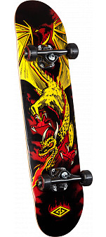 Powell Golden Dragon Flying Dragon 2 Complete Skateboard - 7.625 x 31.625