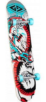 Powell Golden Dragon Loop Dragon 2 Complete Skateboard - 7.75 x 31.75