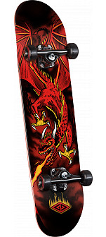 Powell Golden Dragon Flying Dragon Complete Skateboard - 7.625 x 31.625