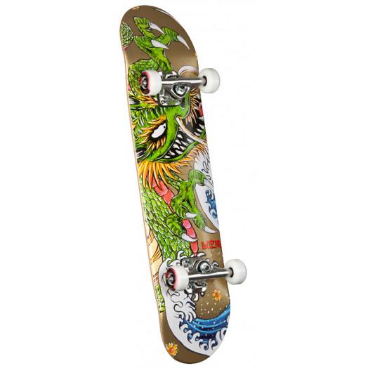 Powell Golden Dragon Steve Caballero Ink Complete Skateboard - 7.625 x 31.625